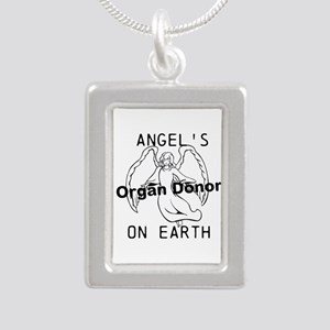 Angel on Earth Silver Portrait Necklace