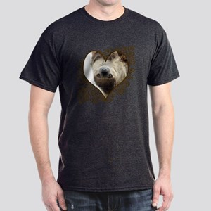 Sloth Swirling Hearts Dark T-Shirt