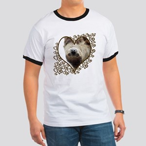 Sloth Swirling Hearts Ringer T
