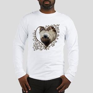 Sloth Swirling Hearts Long Sleeve T-Shirt