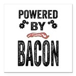 Powered by Bacon Square Car Magnet 3