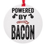 Powered by Bacon Round Ornament