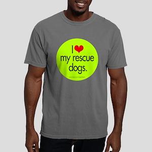 love_resc_dogs_round Mens Comfort Colors Shirt
