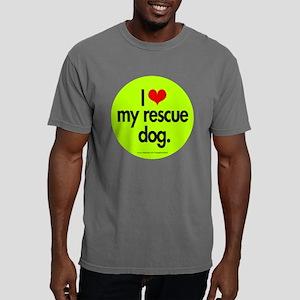 love_resc_dog_round Mens Comfort Colors Shirt