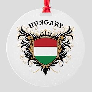 Hungary Round Ornament