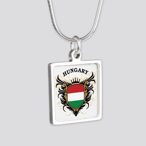 Hungary Silver Square Necklace