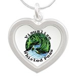 Visualize Whirled Peas Silver Heart Necklace