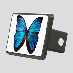 blue butterfly two Rectangular Hitch Cover
