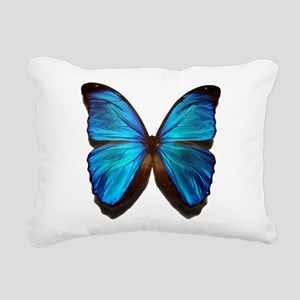 blue butterfly two Rectangular Canvas Pillow