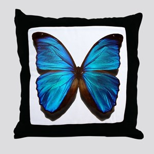 blue butterfly two Throw Pillow