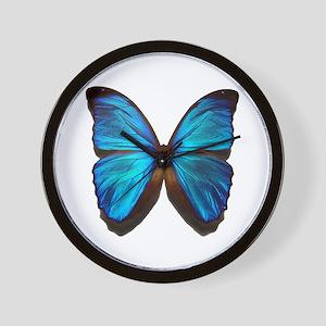 blue butterfly two Wall Clock