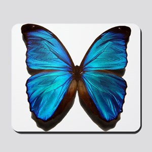 blue butterfly two Mousepad