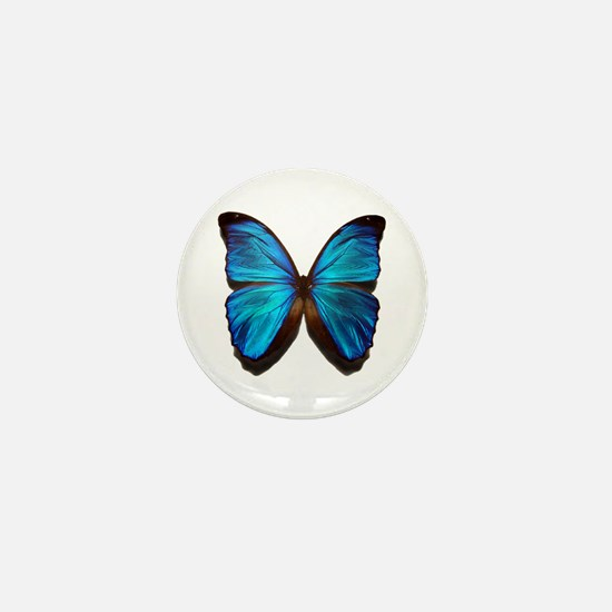 blue butterfly two Mini Button