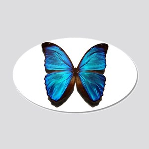 blue butterfly two 20x12 Oval Wall Decal
