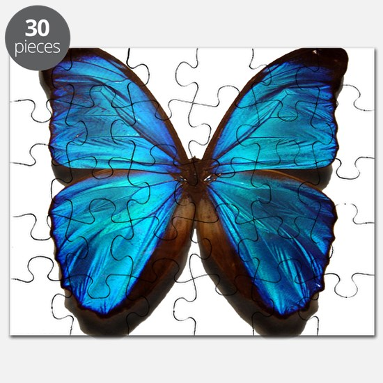blue butterfly two Puzzle