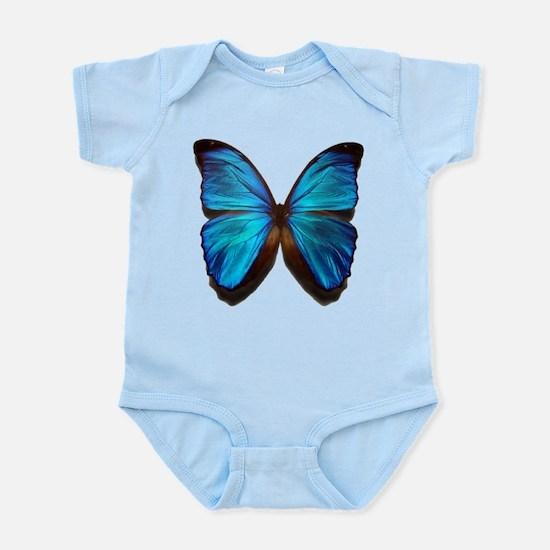 blue butterfly two Infant Bodysuit