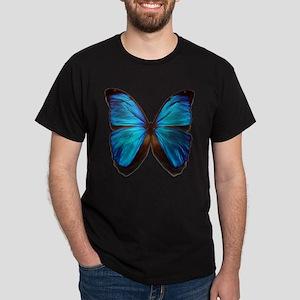blue butterfly two Dark T-Shirt