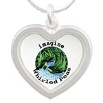 Imagine Whirled Peas Silver Heart Necklace