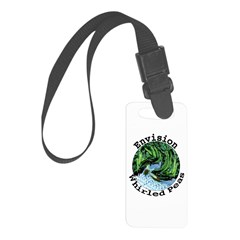 Envision Whirled Peas Luggage Tag