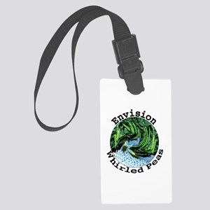 Envision Whirled Peas Large Luggage Tag