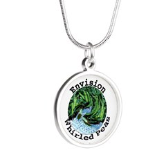 Envision Whirled Peas Silver Round Necklace