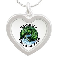 Envision Whirled Peas Silver Heart Necklace