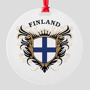 Finland Round Ornament