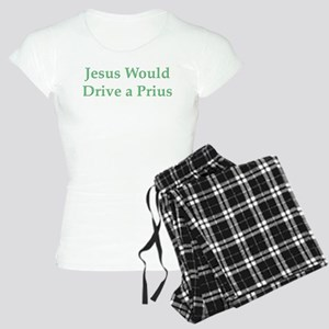 Jesus Would Drive a Prius Women's Light Pajamas