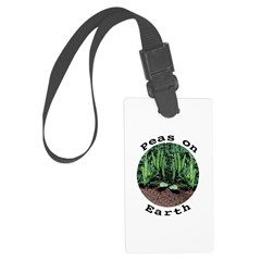 Peas On Earth Luggage Tag