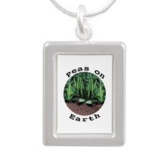 Peas On Earth Silver Portrait Necklace