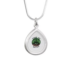 Peas On Earth Silver Teardrop Necklace