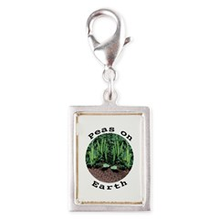 Peas On Earth Silver Portrait Charm