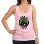 Peas On Earth Racerback Tank Top