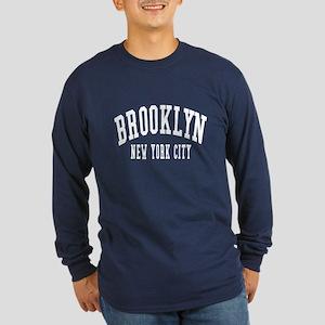 Brooklyn New York City NYC Long Sleeve Dark T-Shir
