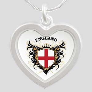 England Silver Heart Necklace