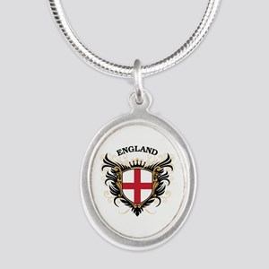 England Silver Oval Necklace