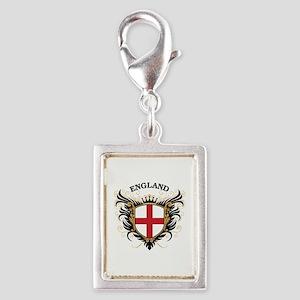 England Silver Portrait Charm