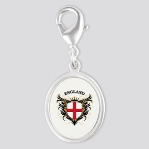 England Silver Oval Charm