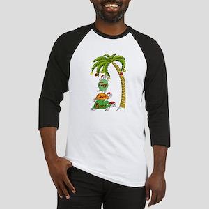 Hawaiian Christmas Turtles Baseball Jersey
