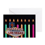 Las Vegas Birthday Candles Greeting Cards Pk of 20