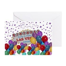 Birthday In Las Vegas Greeting Cards (Pk of 20)
