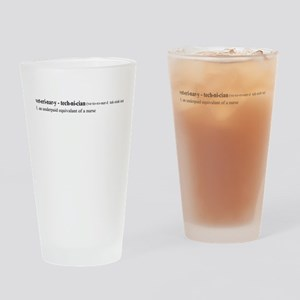Vet Tech Definition Drinking Glass