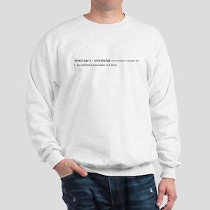 Vet Tech Definition Sweatshirt