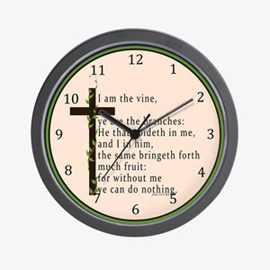 John 15 5 King James Bible Wall Clock
