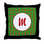 Christmas Wrap Monogram Throw Pillow