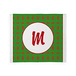Christmas Wrap Monogram Throw Blanket