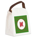 Christmas Wrap Monogram Canvas Lunch Bag