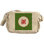 Christmas Wrap Monogram Messenger Bag