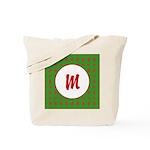 Christmas Wrap Monogram Tote Bag