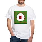 Christmas Wrap Monogram White T-Shirt